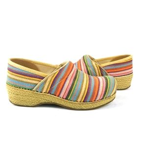 Dansko Professional Vegan Stripe Clogs Multi-colr
